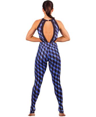 Calça Legging Fitness Blue Shapes