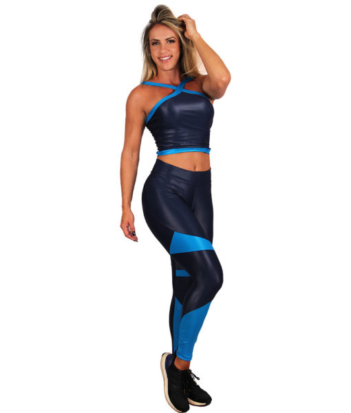 Legging Cirre Eletric Shapes - Azul