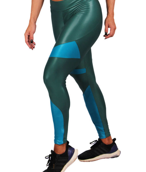 Legging Cirre Eletric Shapes - Verde