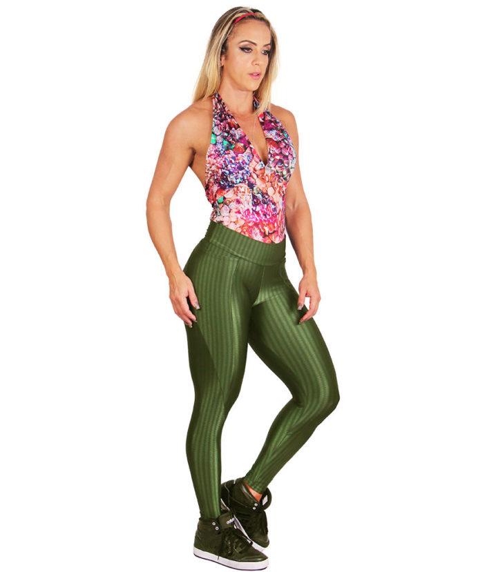 Calça Legging Cirre Verde Militar3