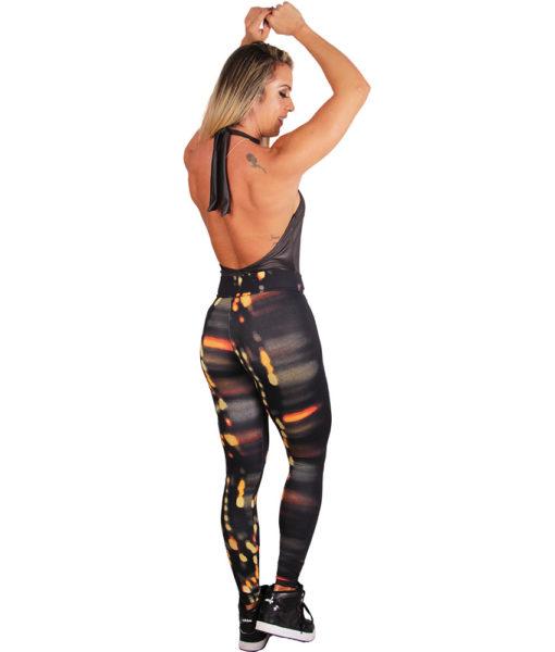 Calça Legging Fitness Estampa City Lights | Toda em Forma