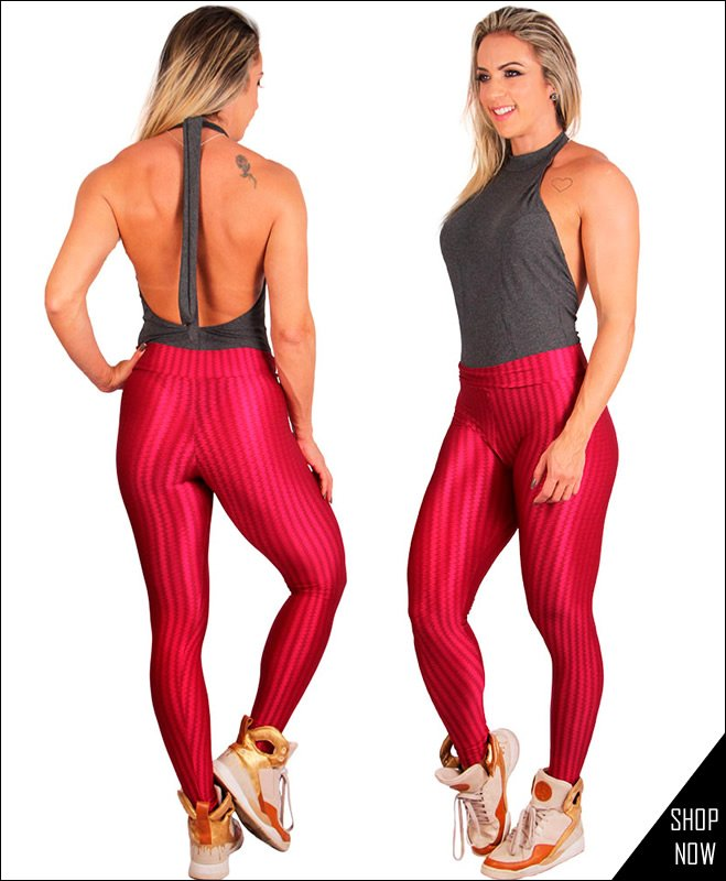 Legging Bordot com Body Feminino preto