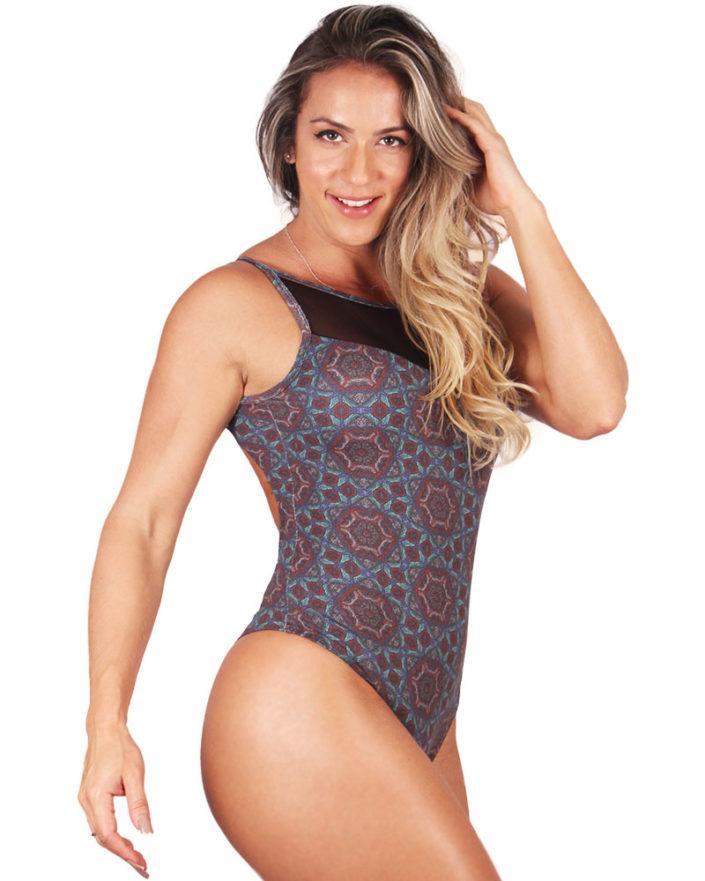 Body Feminino Mandalinha Detalhe em Tule