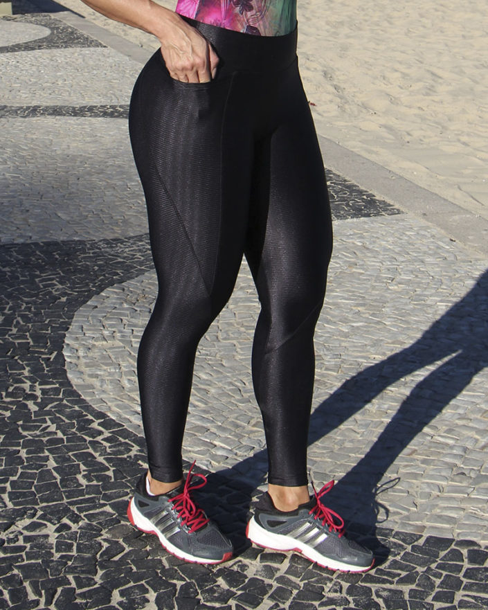 Calça Legging Cirre Preta Anatomic Pocke