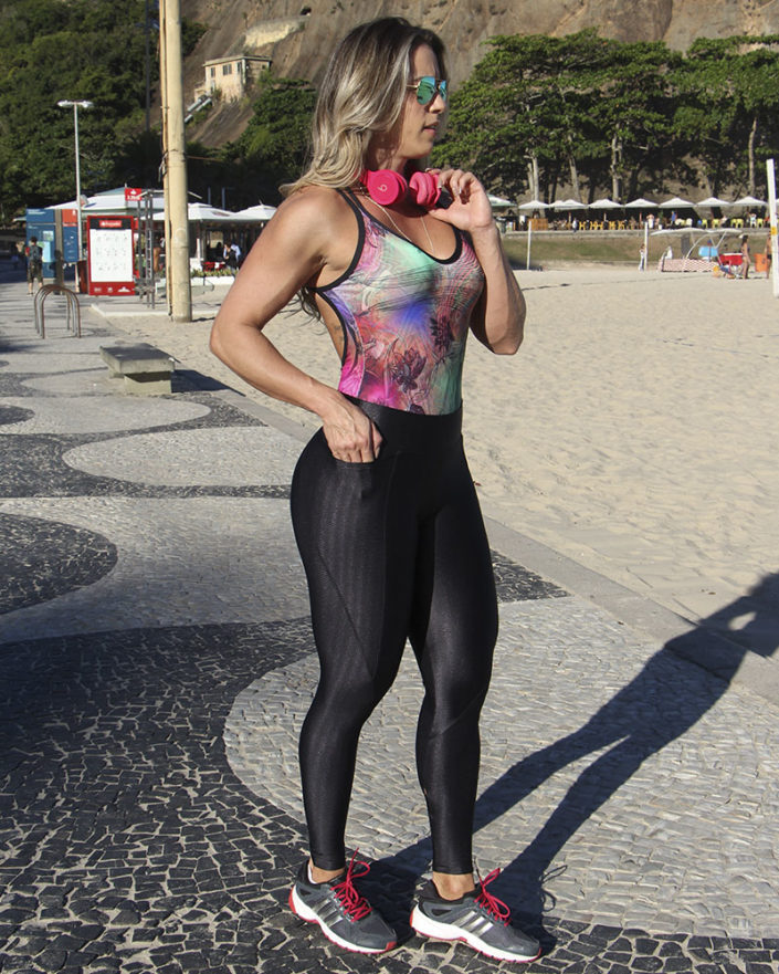 Calça Legging Cirre Preta Anatomic Pocket
