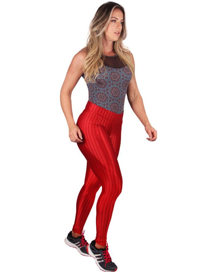 Calça Legging Anatomic Pocket Vermelho