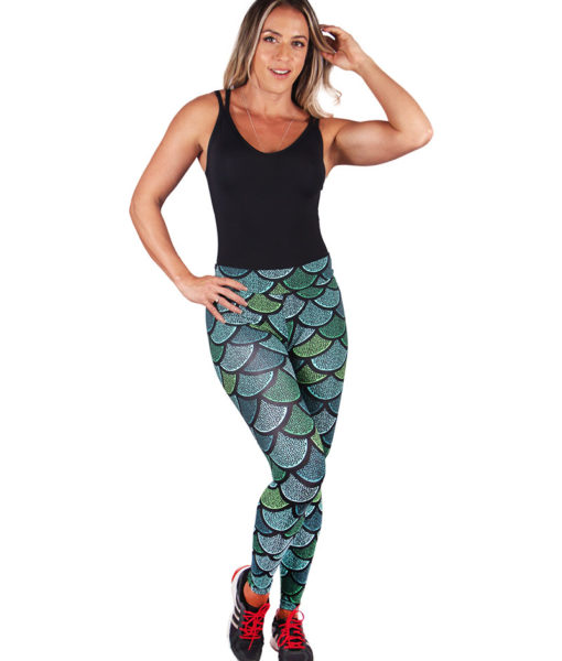 Calça Legging Fitness Estampa Sirenas 4