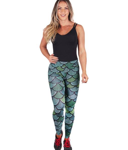 Calça Legging Fitness Estampa Sirenas