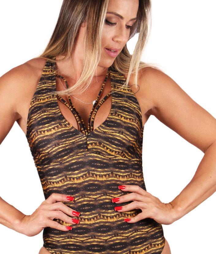 Body Estampado Strapy Tiger Trilobal