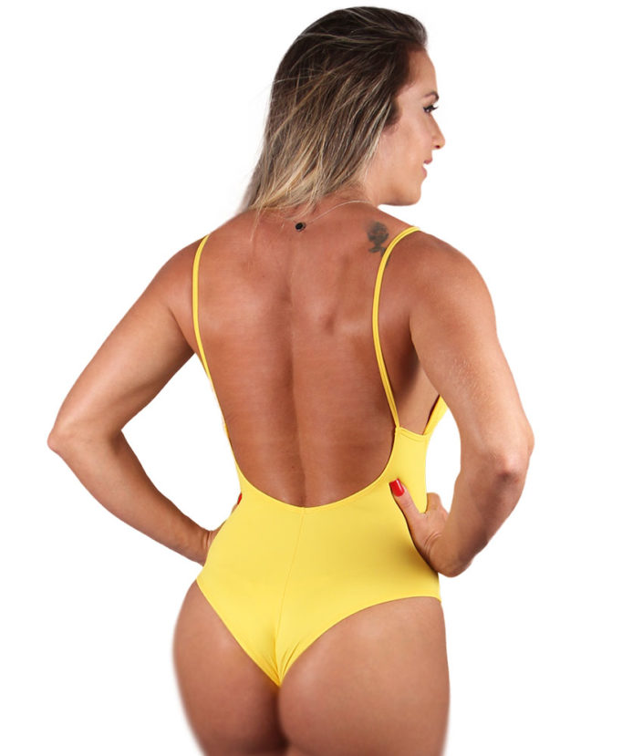 body feminino amarelo sunshine