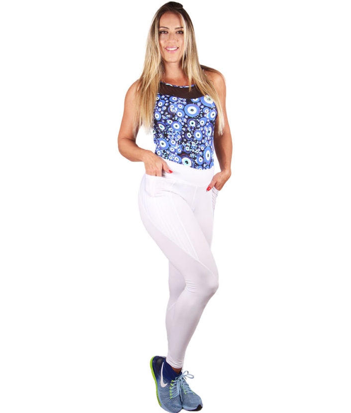 calça legging branca anatomick pocket