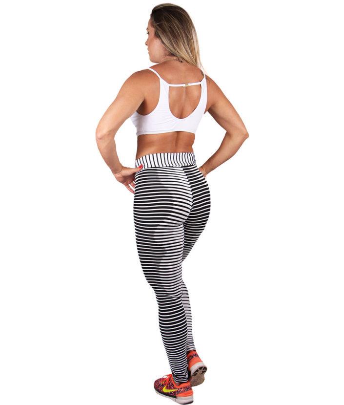 calça legging preta e branca textura 3d 4