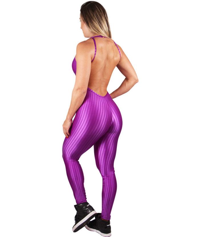 macacão fitness glam cirre roxo 2
