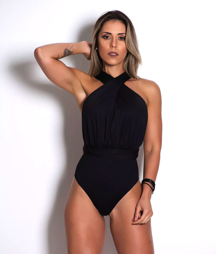 body feminino preto varias formas