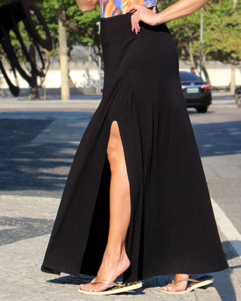saia longa preta com fenda 3