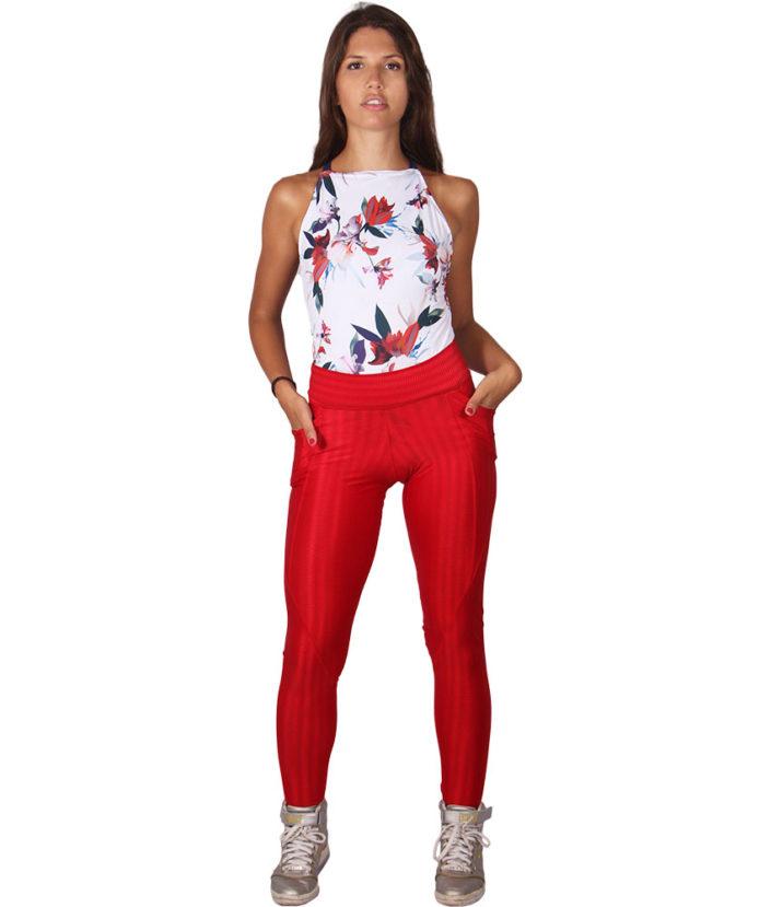 Calça Legging Anatomic Pocket Vermelho - Bolso Lateral 7
