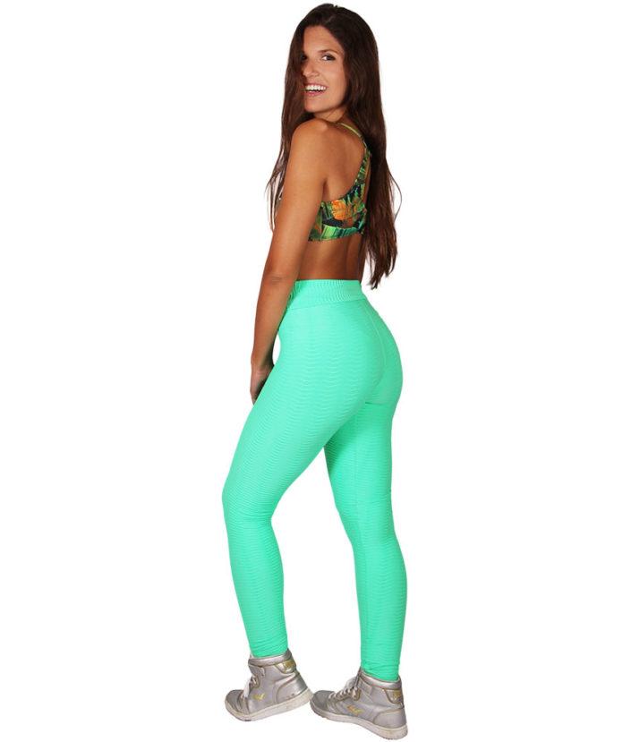 Calça Legging Wave Max Textura Verde