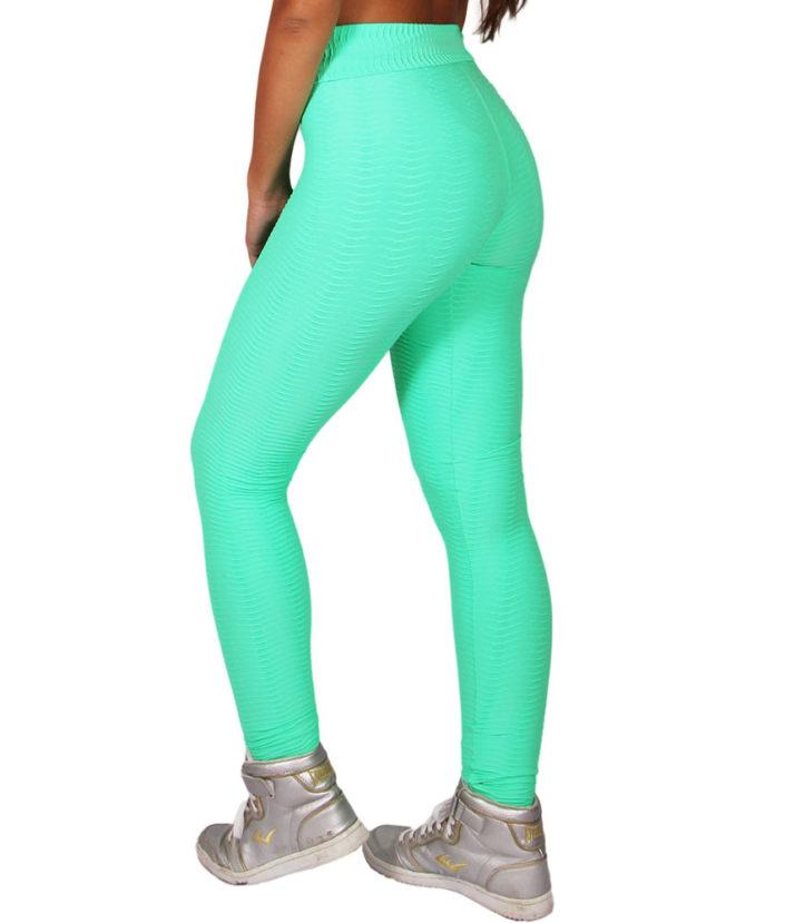 Calça Legging Wave Max Textura Verde 2