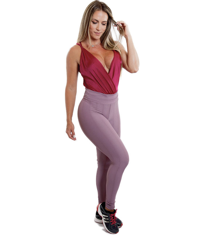 Calça Legging Wave Max Textura Rose