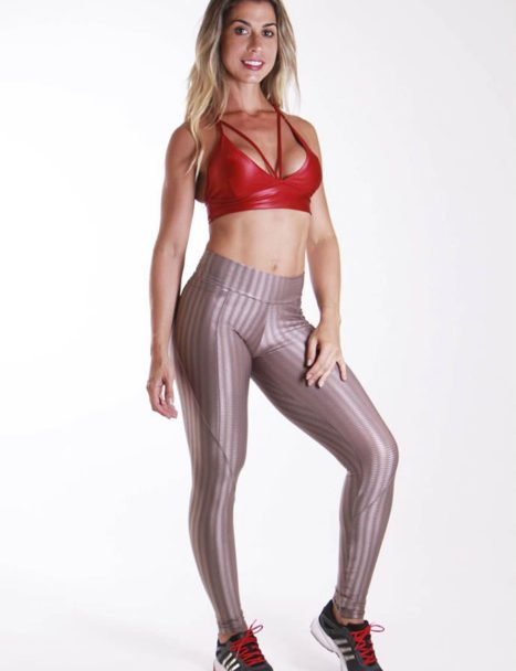 Calça Legging Cirre Nude Anatomic Pocket