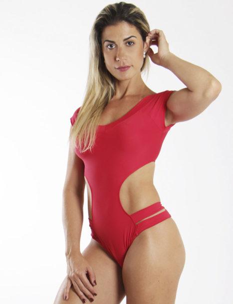 Body Feminino Liso Engana Mamãe Vermelho
