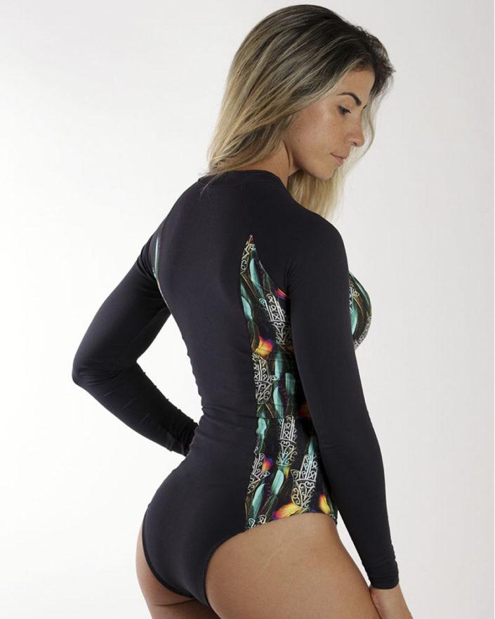 Body Feminino Manga Longa Surf Hamsa