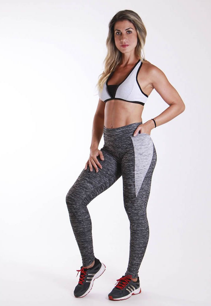 Calça Legging Cinza Mescla Anatomic Pocket TF