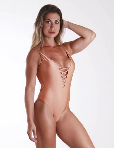 Body Feminino Cavado - Luxo Nude