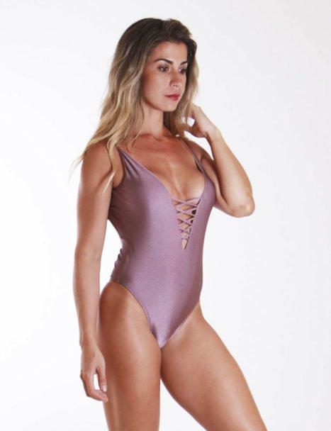 Body Feminino Cavado - Luxo Rosê