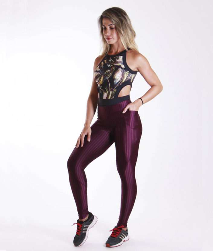 Calça Legging Anatomic Pocket Açaí
