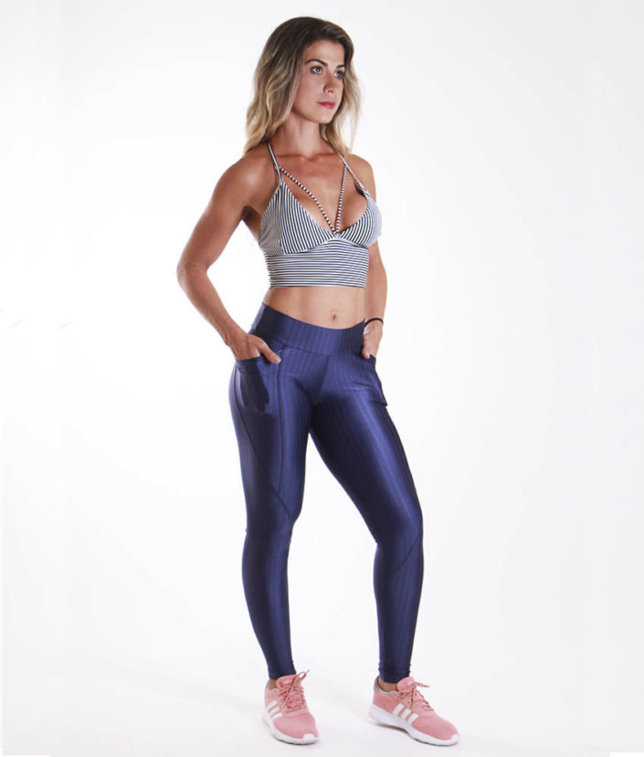 Calça Legging Cirre Azul Anatomic Pocket