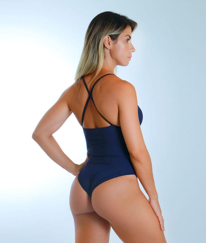 Body Feminino Strapy Azul Marinho