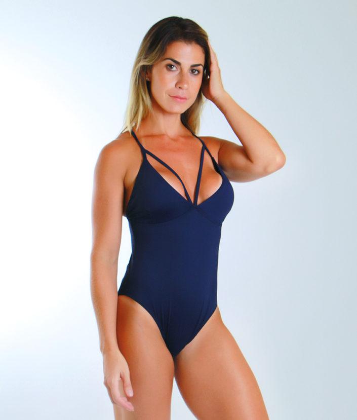Body Feminino Strapy Azul Marinho 4