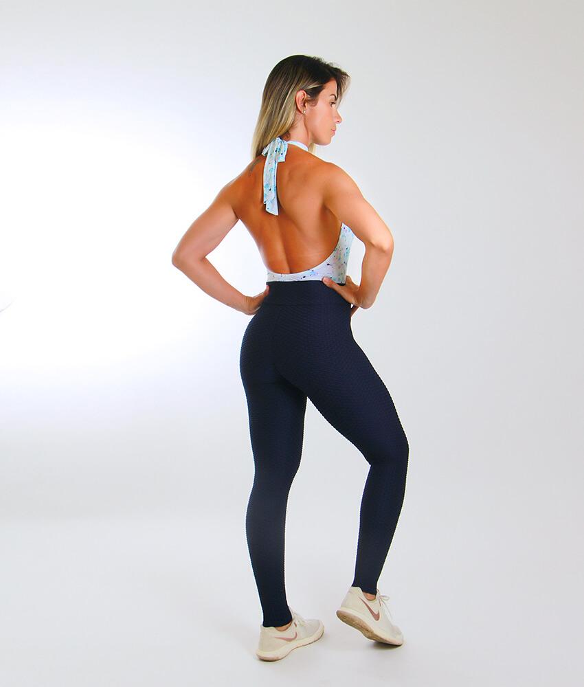 913c207d3 Calça Legging Jacquard Preta | Moda Fitness Sustentável