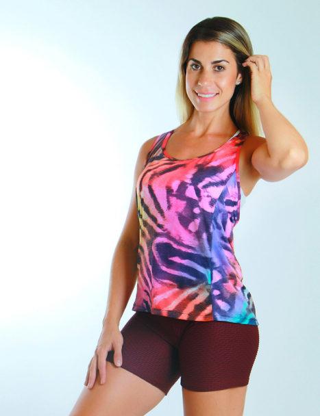 a354c27ad6 Camiseta Regata Dry Fit Animal Print ...