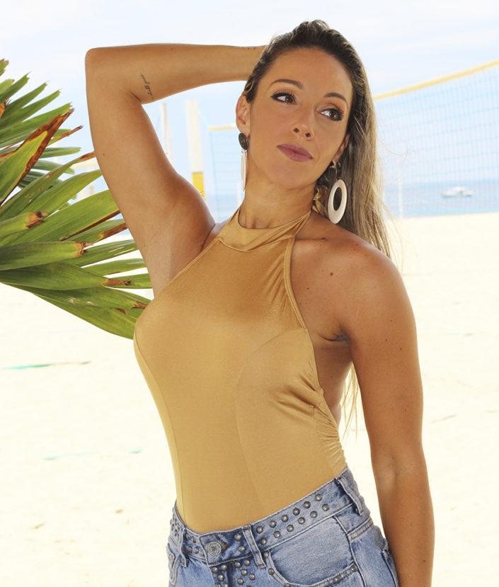 Body Feminino Frente Única Gold