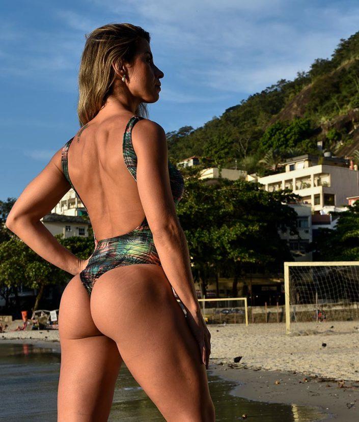 body feminino estampado cavado tropical collection 2