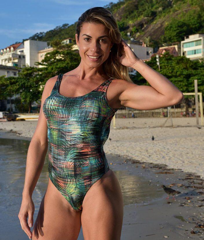 body feminino estampado cavado tropical collection 3