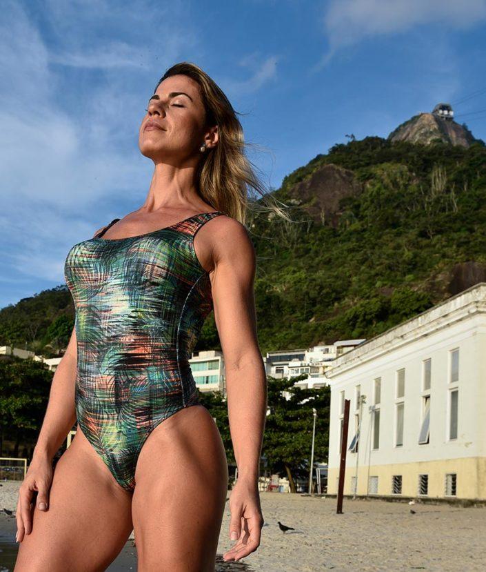 body feminino estampado cavado tropical collection