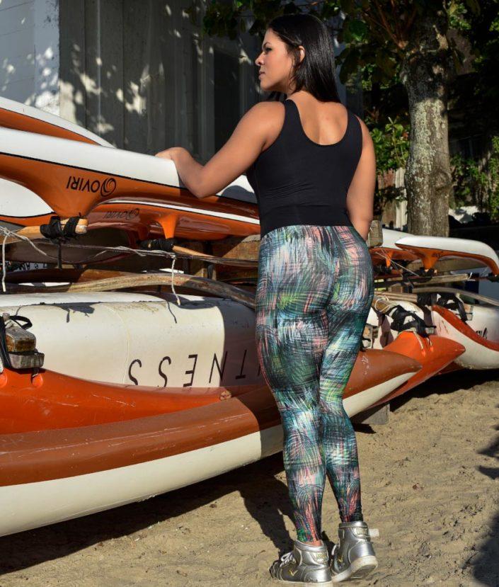 calça legging estampada tropical collection