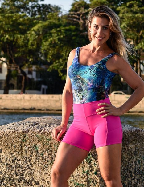 short fitness cross pink - colors collection 2