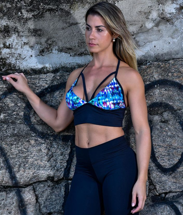 top cropped strappy com bojo removivel tie dye collection
