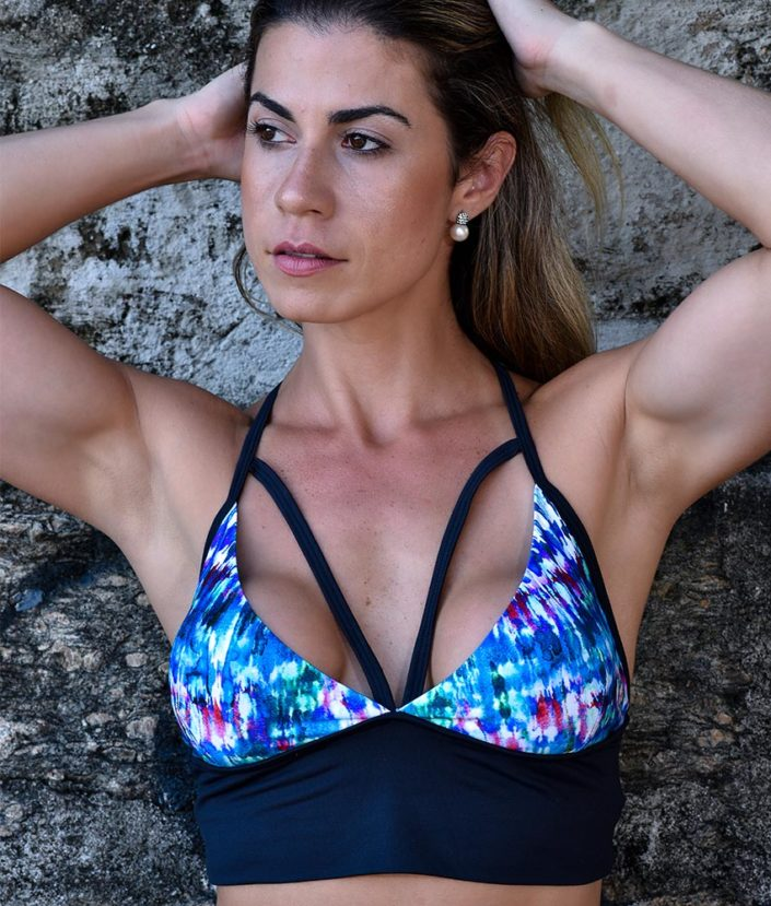 top cropped strappy com bojo removivel tie dye collection 2